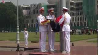 Lễ hạ cờ tại Ba Đình - Treo cờ rủ quốc tang Đại tướng Võ Nguyên Giáp