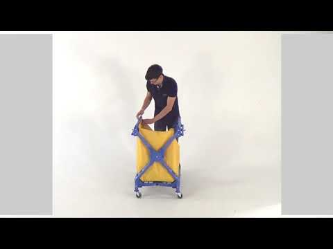 Housekeeping Tough Foldable Laundry Trolley