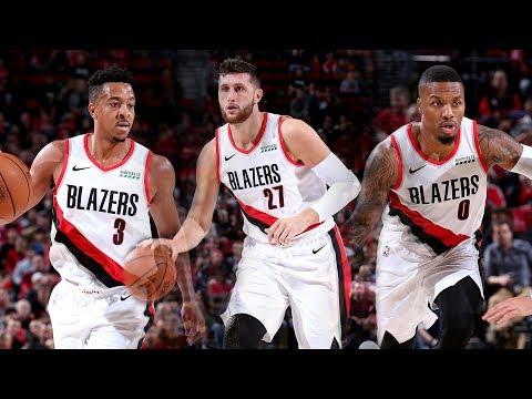 The Best of Lillard, McCollum, and Nurkic in Portland's Match-up with Utah | 2018 NBA Preseason