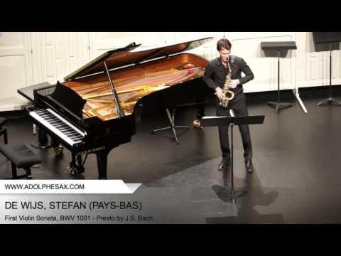 Dinant 2014 - DE WIJS, Stefan (First Violin Sonata, BWV 1001 - Presto by J.S. Bach)