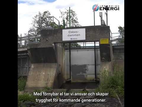 Vi producerar förnybar el genom bland annat lokal vatten- och vindkraft