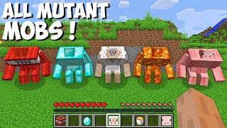 How to FIND ALL MUTANT MOBS in Minecraft ! SECRET MUTANT !