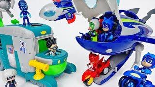 Romeo's Sleeping Gas Is Coming~! Fly PJ Masks HQ Rocket - ToyMart TV