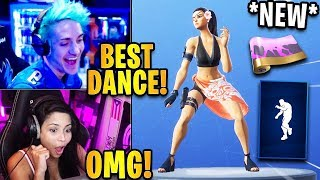 """Streamers React to THE *NEW* """"WORK IT"""" Emote/Dance & Turbulent Wrap!   Fortnite Highlights"""
