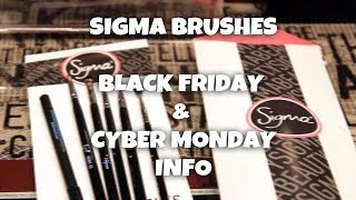 Sigma Makeup Brush Haul - Black Friday/Cyber Monday Info 2013