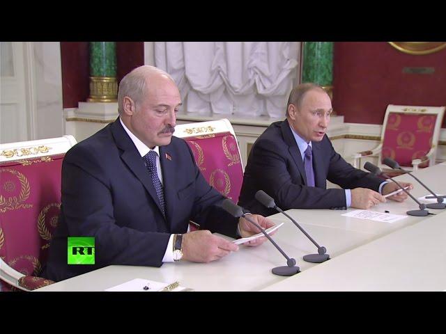 Встреча Владимира Путина и Александра Лукашенко 15 декабря 2015 года