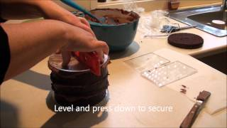 How to ganache a cake by Kellys Cake Toppers and Supplies.