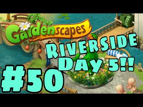 GARDENSCAPES NEW ACRES #50 Gameplay Story Playthrough | Area 9 River Area  Day 5 Pt