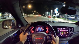 2021 Dodge Durango SRT Hellcat POV NIght Drive (3D Audio)(ASMR)