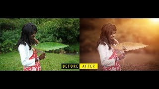 How to Create a Dramatic Cinematic Style Portrait Using Photoshop Color Grading - YouTube