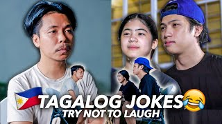 TAGALOG JOKES With EMPOY (Try Not To Laugh!!)   Ranz and Niana