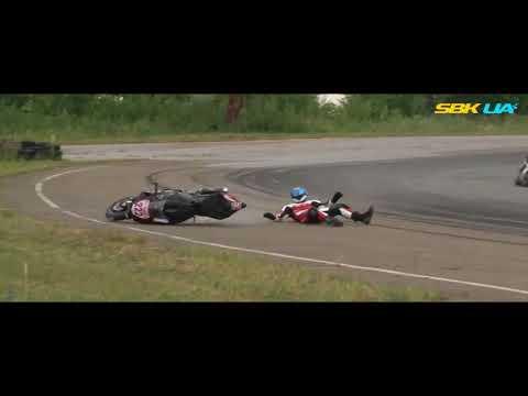Падение Сергея Рашко на первом этапе чемпионата Украины