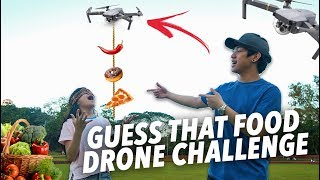 GUESS THAT FOOD DRONE CHALLENGE | Ranz and Niana