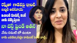 Anasuya about Manjusha taking place of her in Jabardasth, ..