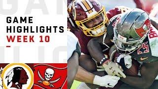 Redskins vs. Buccaneers Week 10 Highlights   NFL 2018