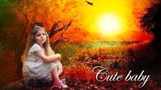 photo manipulation photoshop cc 2019 | photo manipulation bangla | Cute Baby