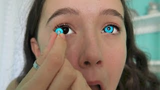 I Try 4 Creepy & Creative COLOR Contact Lenses ... See The Looks! FionaFrills