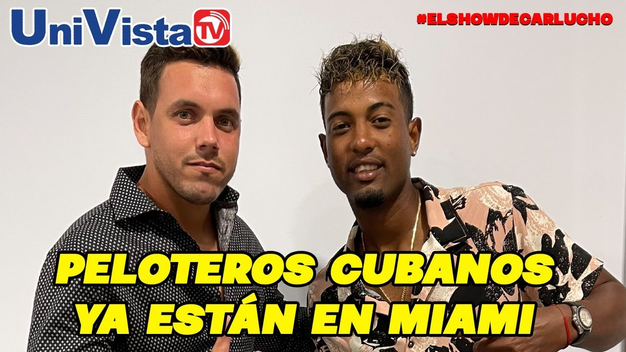 Peloteros cubanos que abandonaron sus equipos visitan #ElShowDeCarlucho