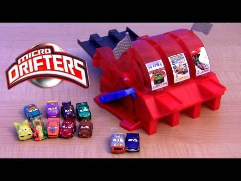 Micro Drifters Multi Car Launcher Cars 2 World Grand Prix Snot Rod, Rip Clutchgoneski Disney 9-Car - Smashpipe Entertainment