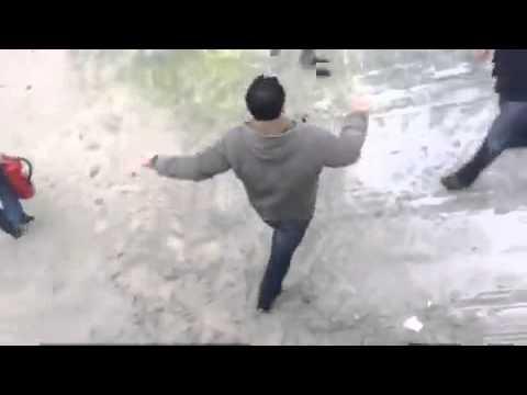 Batalla campal en Sanxenxo por las obras del pantalán
