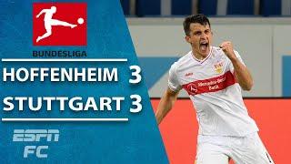 Stuttgart scores late to earn 3-3 draw at Hoffenheim   ESPN FC Bundesliga Highlights