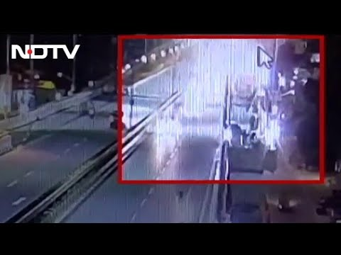 Couple on bike fall to death from flyover after car hits in Bengaluru, CCTV footage