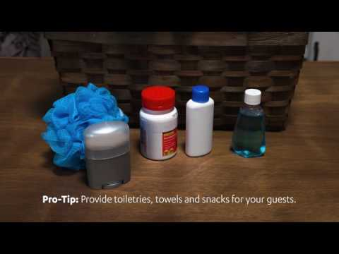 Hosting at Home!   Guest Room Welcome Kit