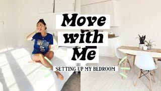 MOVING VLOG   SETTING UP MY BEDROOM + BATHROOM