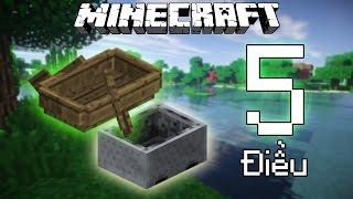 """5 Điều Thú Vị Bạn Có Thể Chưa Biết Về """"Thuyền"""", """"Xe Minecart"""" - Minecraft"""