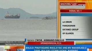 NTG: Panayam kay PCG spokesperson Cmdr. Balilo kaugnay sa paglubog ng MV Maharlika 2