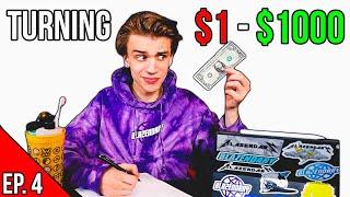 TURNING $1 INTO $1000 CHALLENGE! (Episode 4 - Ecommerce / Make Money Online)