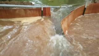 The dam breaks Through!