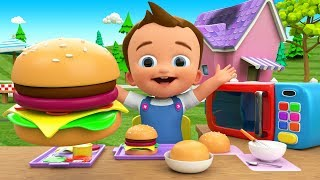 Little Baby Making Burger DIY - Preschool Kids Toddlers Activities 3D Children Learning Educational