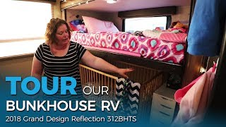 Tour Our Bunkhouse RV! 👀 Grand Design 312BHTS | Full-time RV Family of Five | Ep. 15