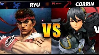 Super Smash Bros. Ultimate - Corrin vs Ryu - HD Gameplay