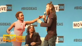 Man Rushes Stage To Grab Kamala Harris' Microphone At Forum | Sunday TODAY