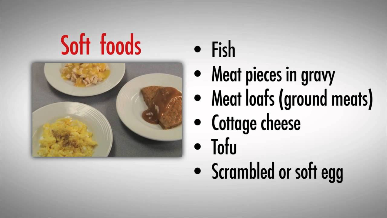 Mechanically Soft Diet Foods