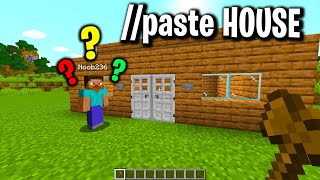 Trolling noobs in my minecraft server with paste house plugin