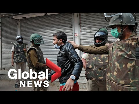 Coronavirus outbreak: Indian police break up citizenship protests as lockdown enforced