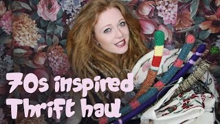 Try On Thrift Haul | 70's inspired clothes and home decor