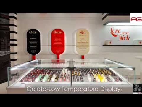 Gelato, Chocolate and Pastry Display Cases