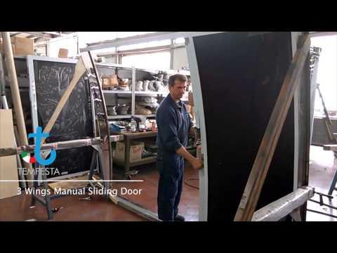Three Wings Manual Sliding Door