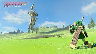 Zelda: BOTW (OoT Link VS Silver Lynel) OoT Weapons Only