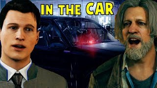All Connor Answers Everytime Hank Asks Him to Stay in the Car - Detroit Become Human