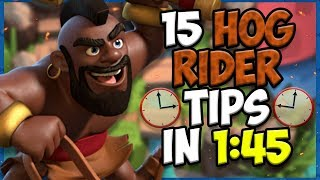 15 QUICK Tips About: Hog Rider🔨 - Clash Royale