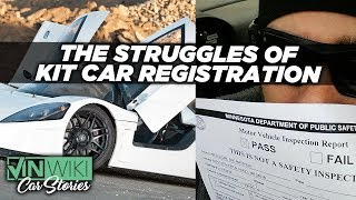 How hard is it to register a garage built supercar?