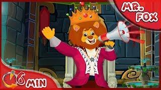 Mr Fox ~ Lion King Mega Phone  ~ Mr Fox Funny Cartoon for kids