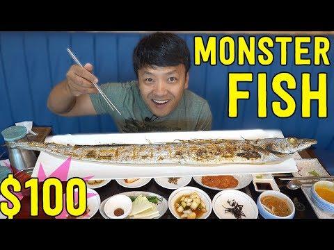 $100 MONSTER Korean Grilled Fish in Jeju Island South Korea
