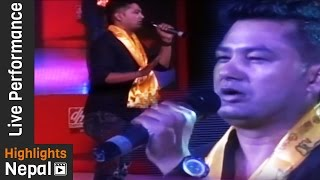 Movie LAAL JODEE's Actor Jyoti Kafle - Live Performance at Plus Movie Night 2073