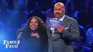 Amber & Ayana's AWESOME Fast Money!   Celebrity Family Feud